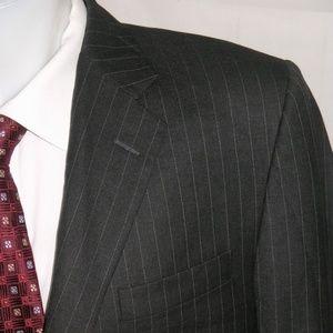 Hickey Freeeman Loro Piana Two Button Suit 42R 36W